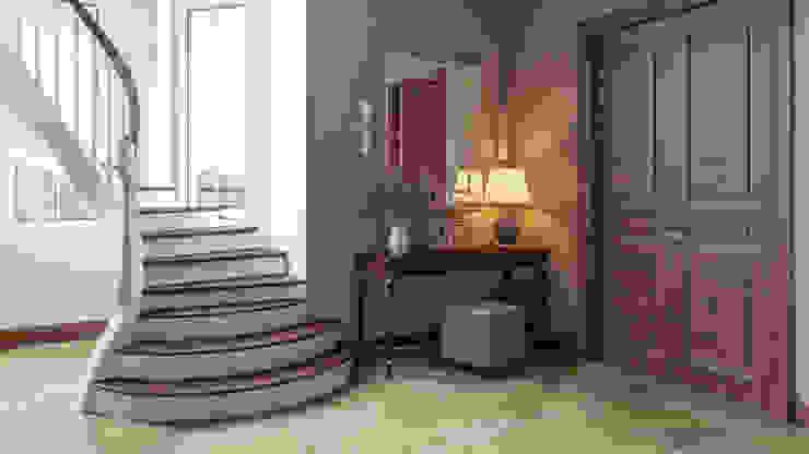 Pasillos, vestíbulos y escaleras de estilo clásico de 'INTSTYLE' Clásico Madera Acabado en madera