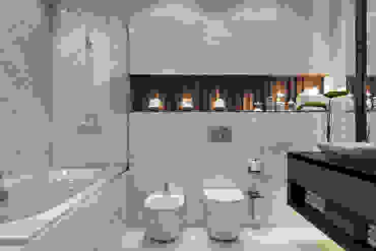 ЖК «КутузовGRAD I (КутузовГрад I)» Ванная комната в скандинавском стиле от 'INTSTYLE' Скандинавский Плитка