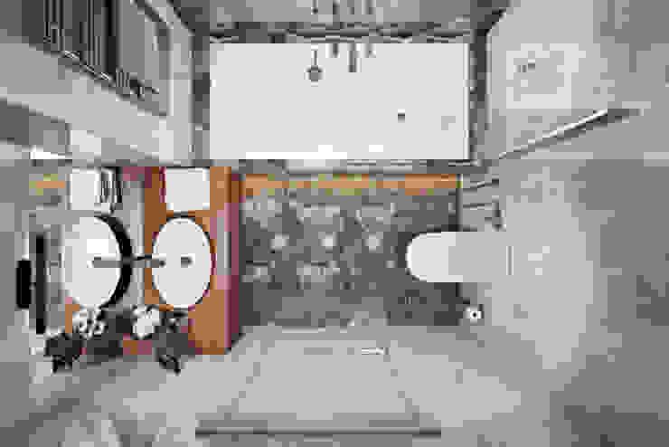 ЖК «City Park (Сити Парк)» Ванная комната в скандинавском стиле от 'INTSTYLE' Скандинавский Плитка