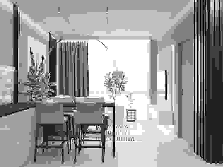 Salas de estilo minimalista de 'INTSTYLE' Minimalista Madera Acabado en madera