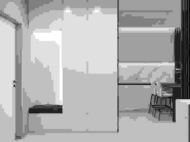 Pasillos, vestíbulos y escaleras de estilo minimalista de 'INTSTYLE' Minimalista Madera Acabado en madera
