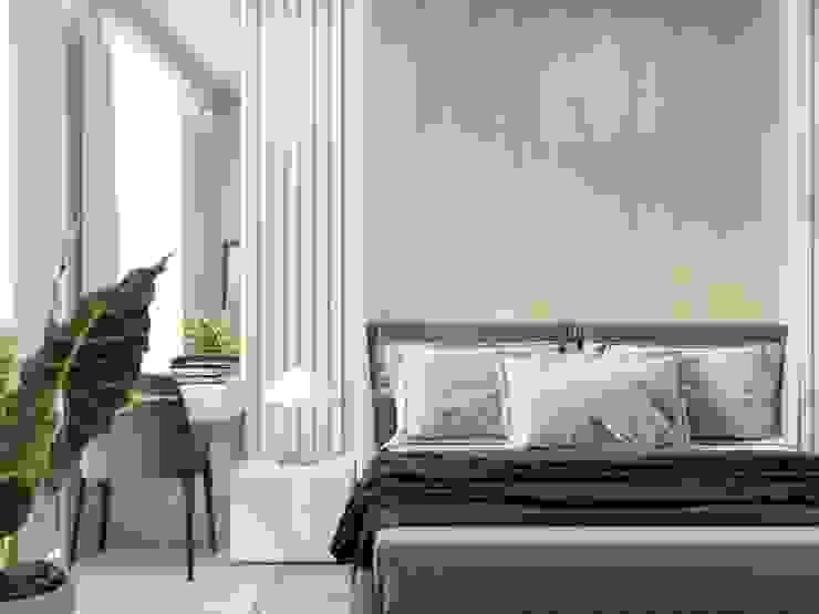 Cuartos de estilo minimalista de 'INTSTYLE' Minimalista Madera Acabado en madera