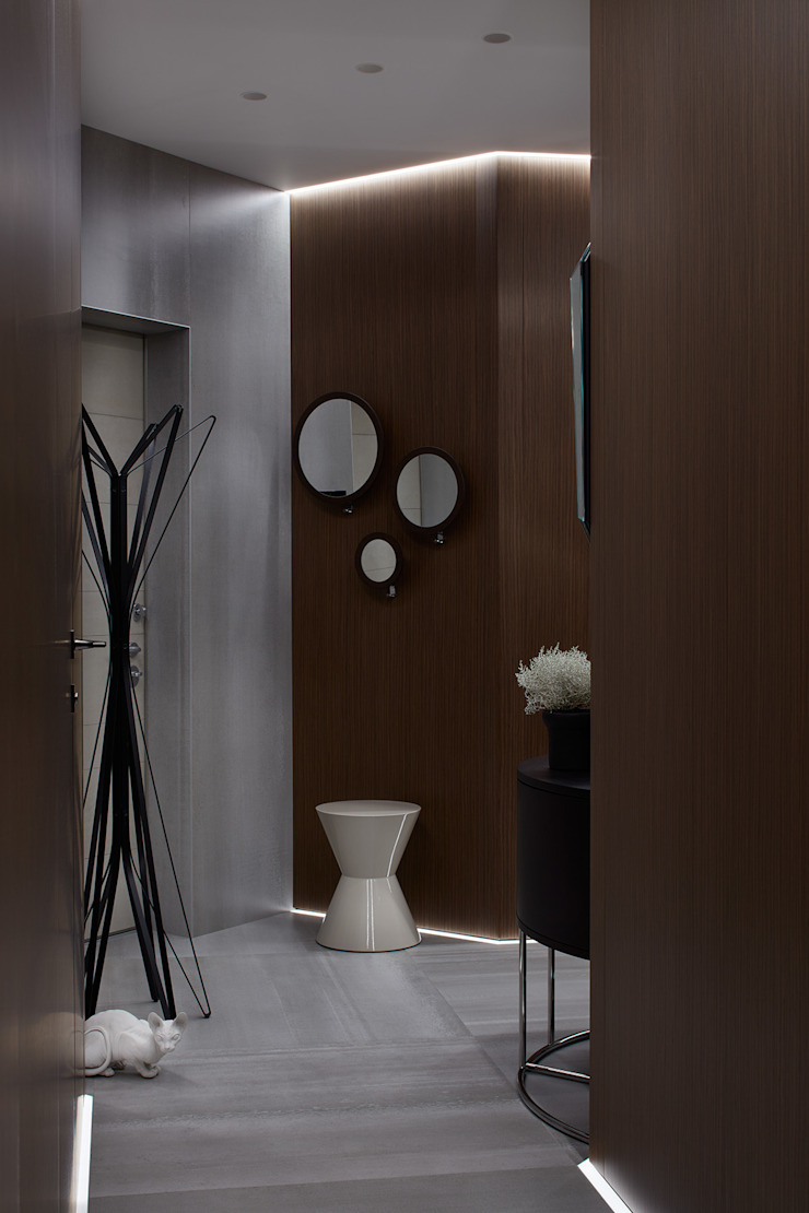 iPozdnyakov studio Koridor & Tangga Minimalis Kayu Brown
