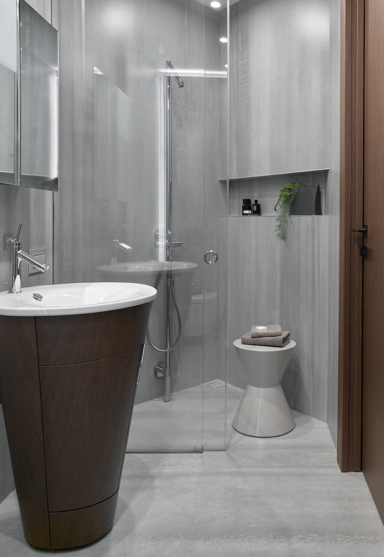 iPozdnyakov studio Kamar Mandi Minimalis Beton Grey