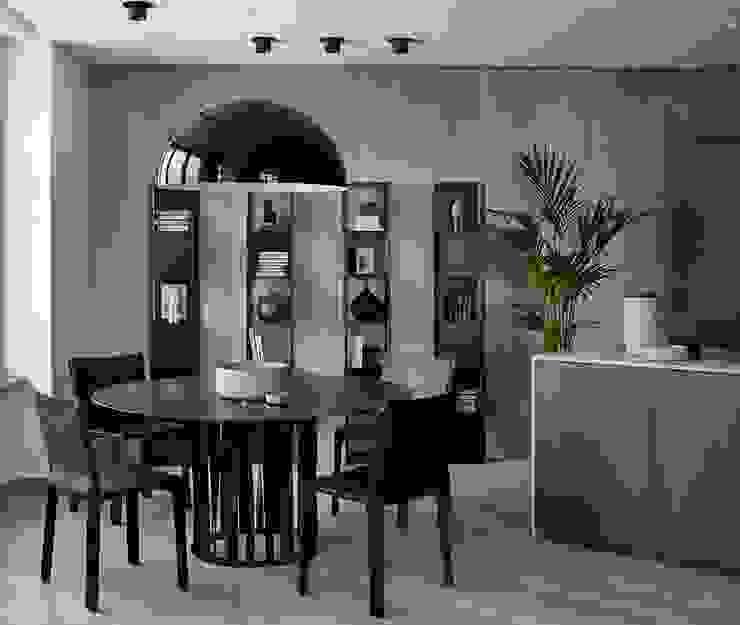 iPozdnyakov studio Ruang Makan Minimalis Grey