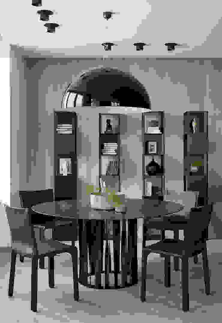iPozdnyakov studio Ruang Makan Minimalis Beton Grey