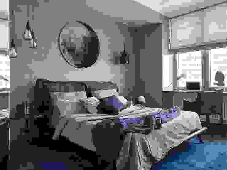 iPozdnyakov studio Kamar Tidur Minimalis Grey