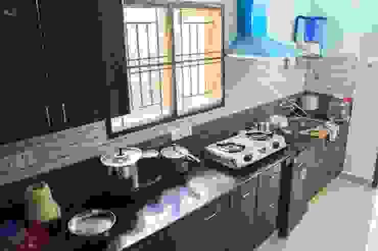 Modular kitchen: modern  by Ajith interiors,Modern Plywood