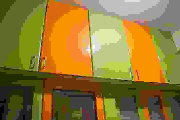 Kitchen Attic storage unit: modern  by Ajith interiors,Modern Plywood