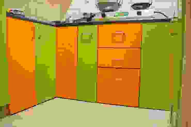 Kitchen Base storage units : modern  by Ajith interiors,Modern Plywood