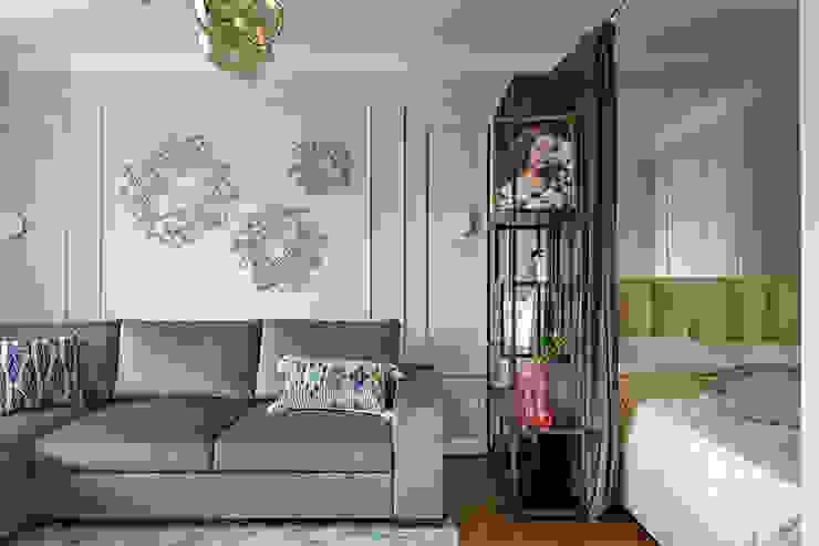 Salas de estilo moderno de Anastasia Yakovleva design studio Moderno Madera Acabado en madera
