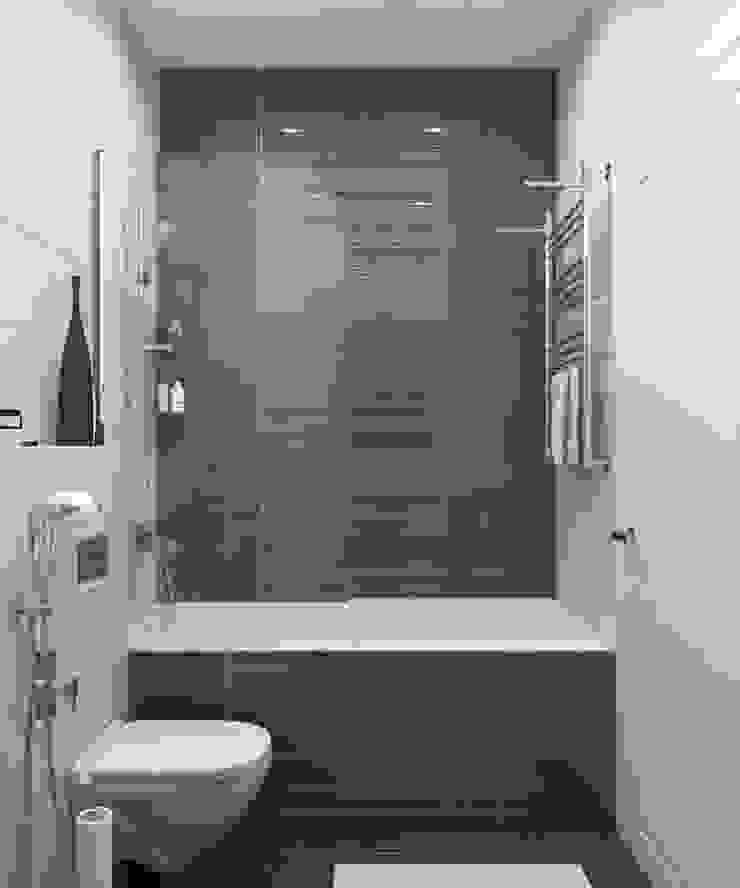 Baños de estilo minimalista de Anastasia Yakovleva design studio Minimalista Cerámico