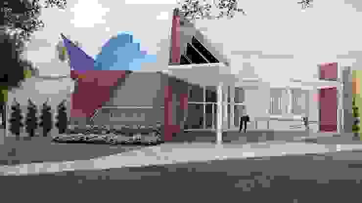 Vista Frontal Edifícios comerciais modernos por HARTMANN ARQUITETOS ASSOCIADOS Moderno
