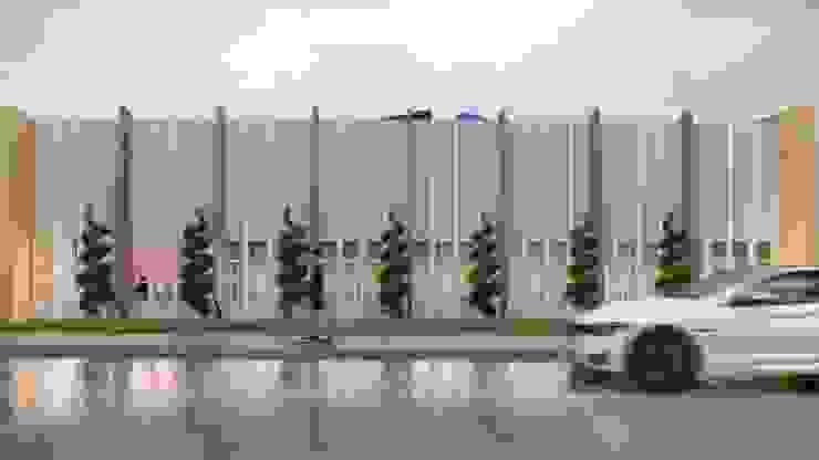 Vista Lateral Edifícios comerciais modernos por HARTMANN ARQUITETOS ASSOCIADOS Moderno