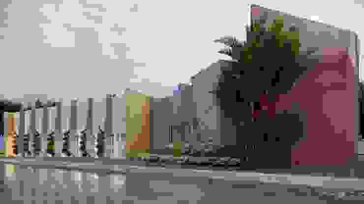 Vista Perspectivada Lateral Edifícios comerciais modernos por HARTMANN ARQUITETOS ASSOCIADOS Moderno