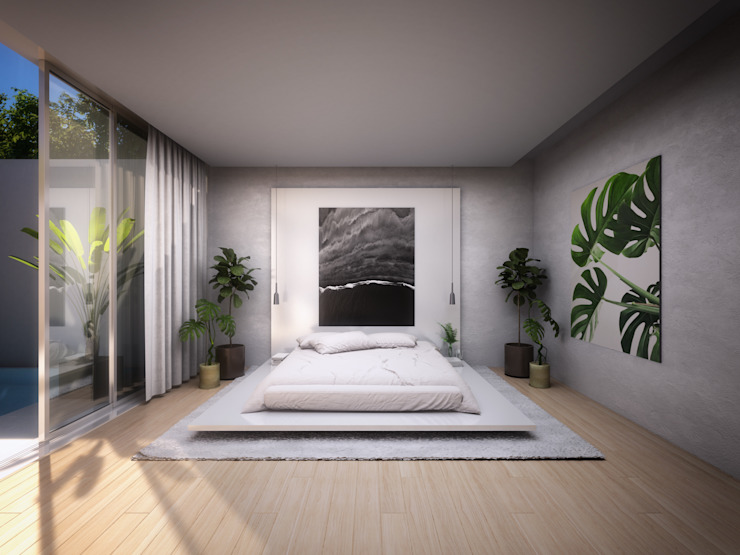 Minimalist bedroom by S-AART Minimalist