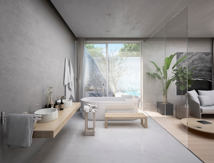 Minimalist style bathrooms by S-AART Minimalist