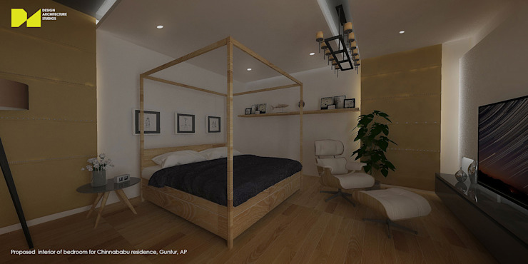 D A STUDIOS Modern Bedroom Engineered Wood Wood effect