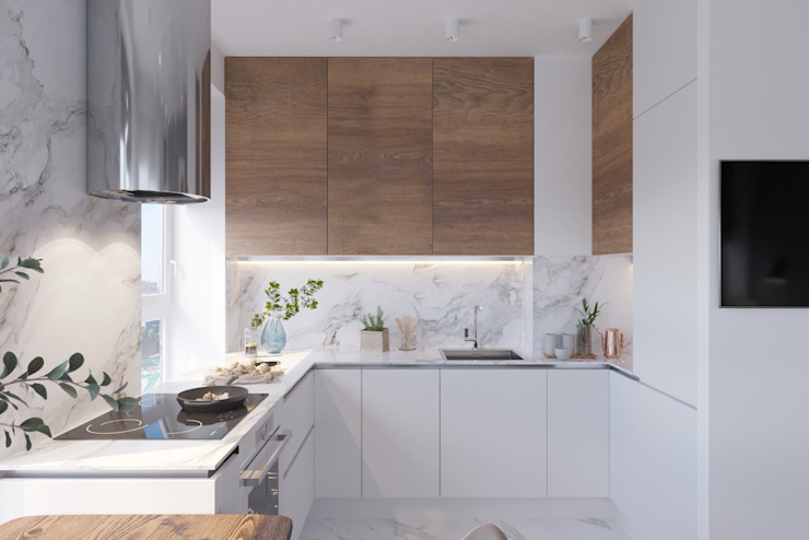 Kitchen by 'INTSTYLE', Scandinavian Wood Wood effect