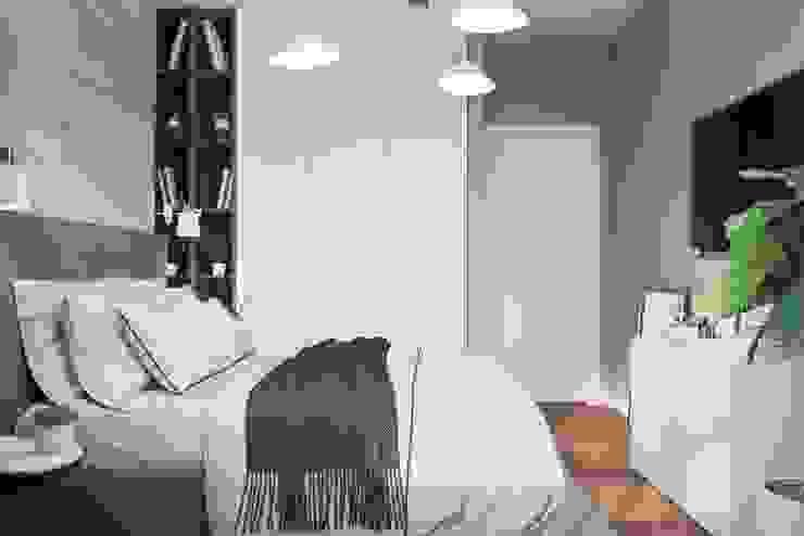 Студия дизайна 'INTSTYLE' Kleine slaapkamer Hout Beige