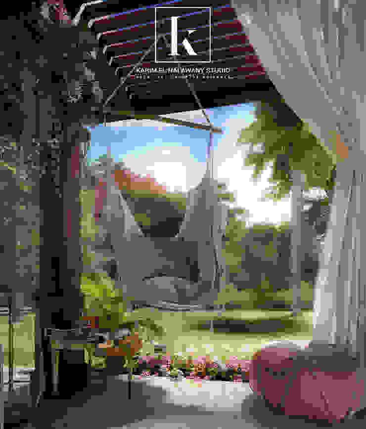 Klasik Balkon, Veranda & Teras Karim Elhalawany Studio Klasik