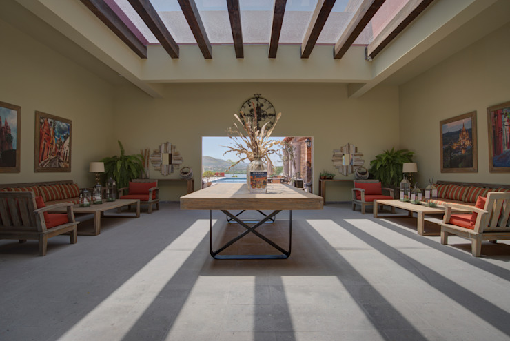 Коридор, прихожая и лестница в модерн стиле от enROJO.espacios Модерн
