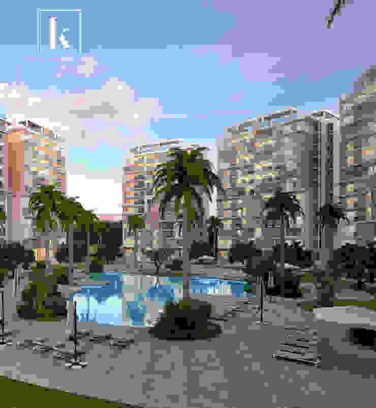 Karim Elhalawany Studio Modern style gardens