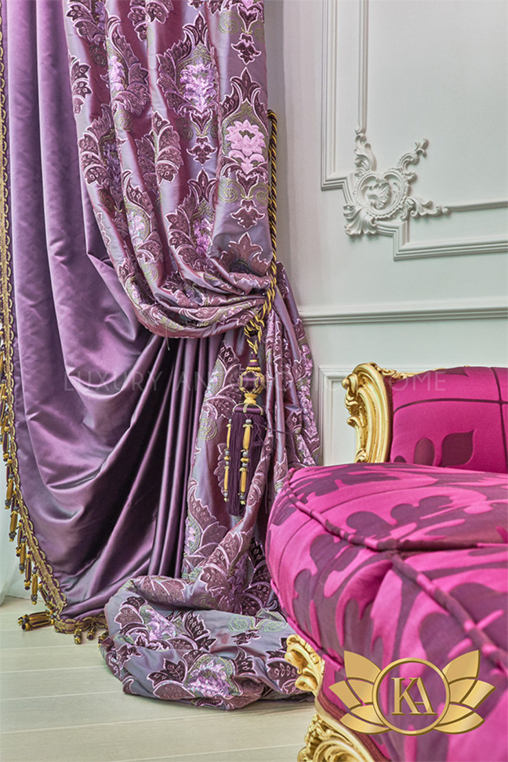 Wide Range of Curtains Available Exclusively by Luxury Antonovich Design