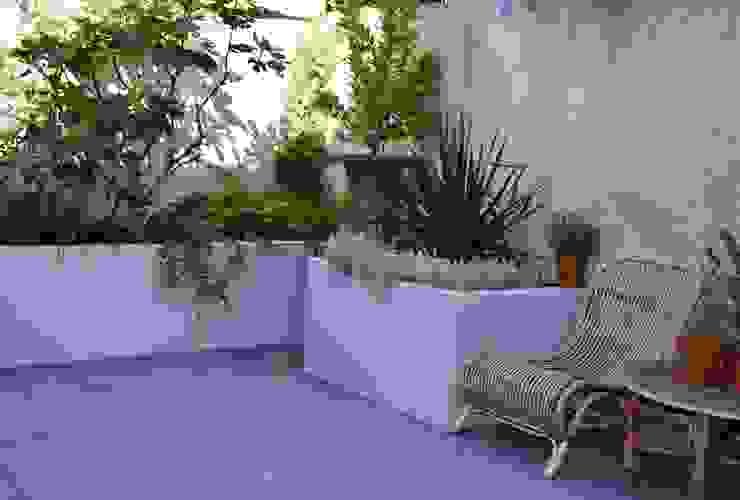 Moderne stadstuin met beton look muurtjes Dutch Quality Gardens, Mocking Hoveniers Moderne tuinen