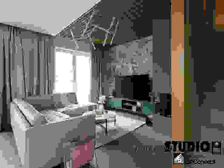 Dom w Wieliczce - zdjęcia MIKOŁAJSKAstudio Nowoczesny salon