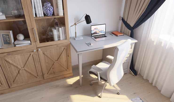 Oficinas de estilo clásico de 'INTSTYLE' Clásico Madera Acabado en madera