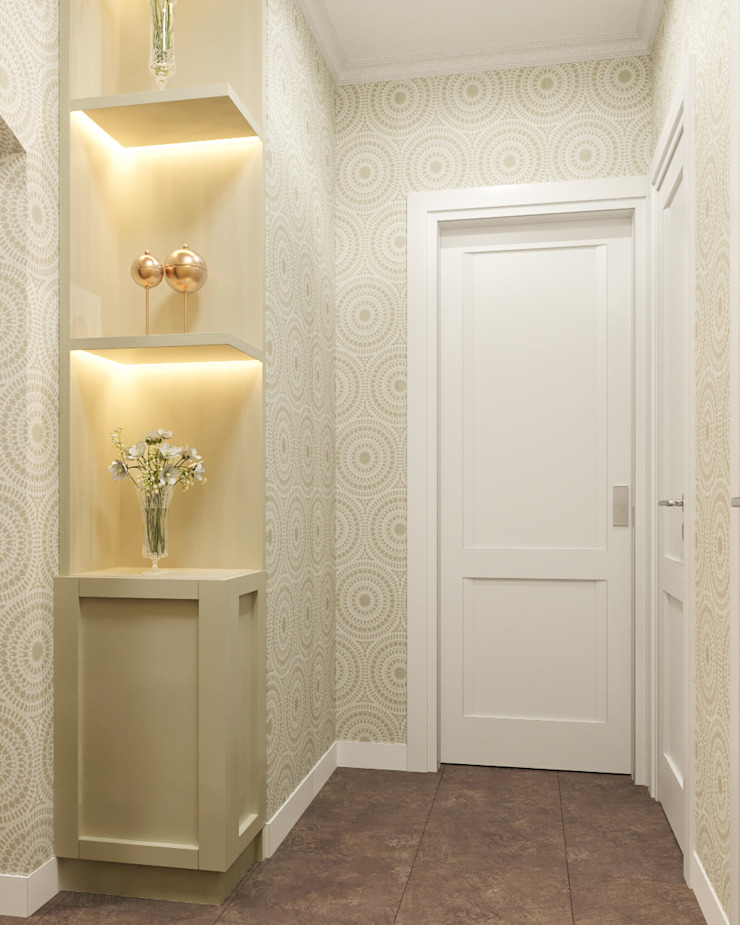 Classic style corridor, hallway and stairs by 'INTSTYLE' Classic Wood Wood effect