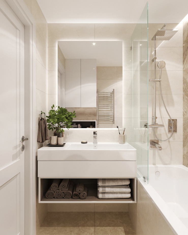 Classic style bathroom by 'INTSTYLE' Classic Tiles