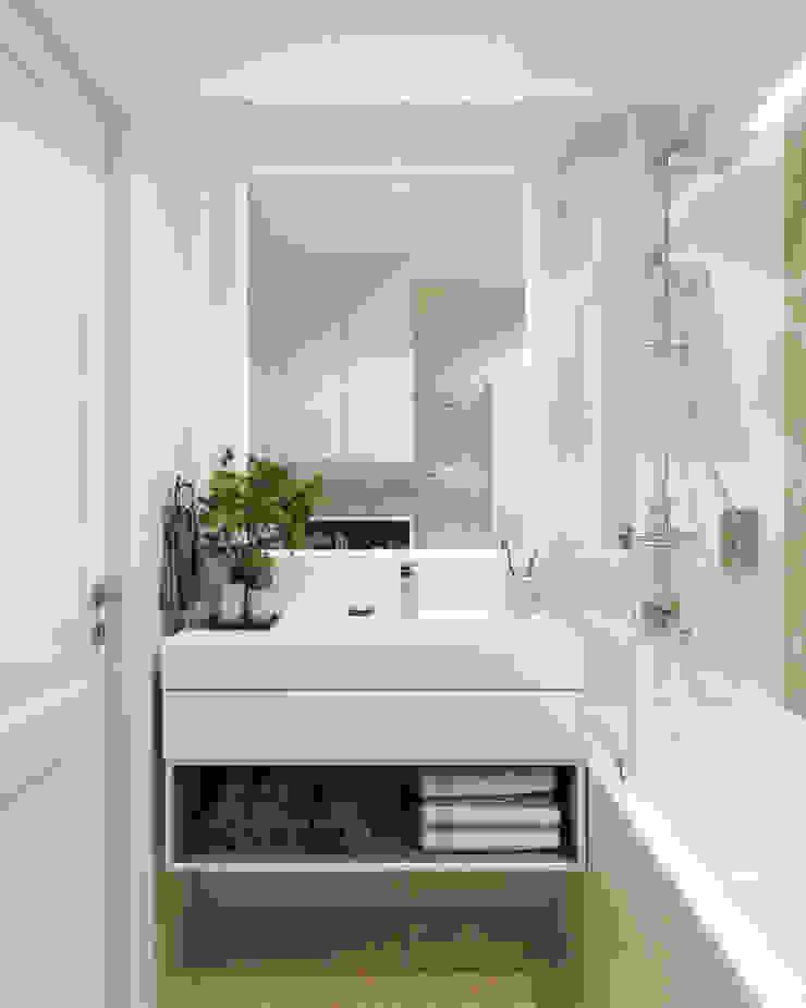 Студия дизайна 'INTSTYLE' Classic style bathrooms Tiles White
