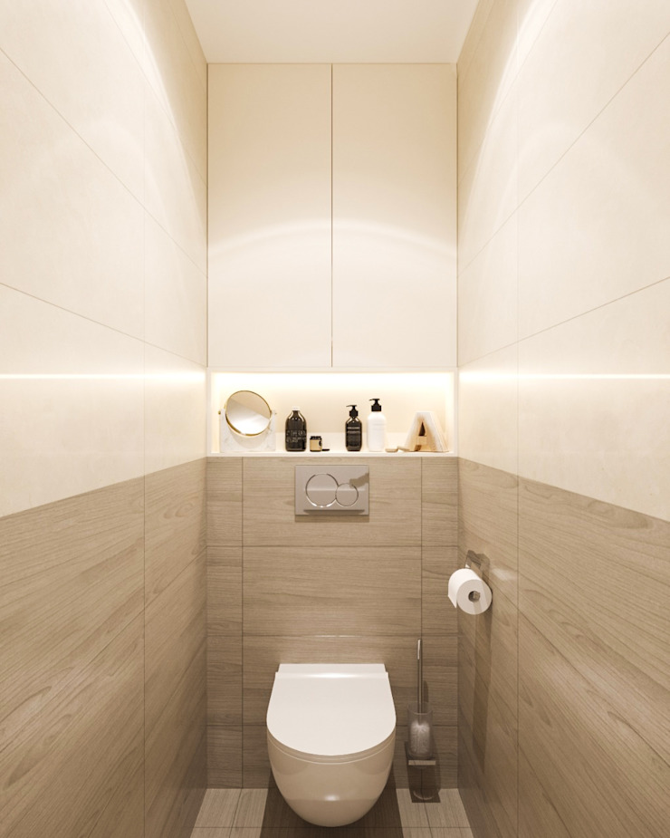 Студия дизайна 'INTSTYLE' Classic style bathrooms Tiles Beige
