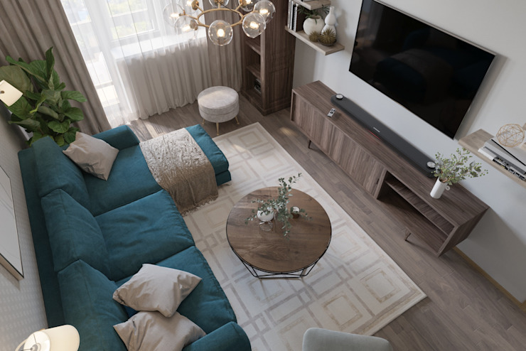 Scandinavian style living room by 'INTSTYLE' Scandinavian Wood Wood effect