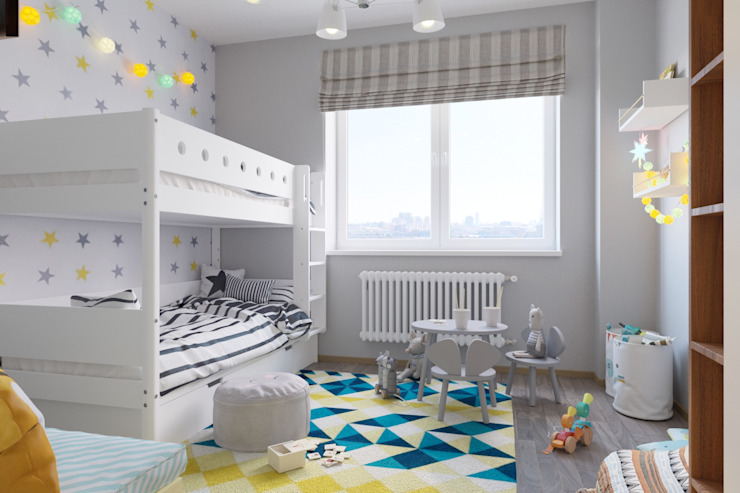 Scandinavian style nursery/kids room by 'INTSTYLE' Scandinavian Wood Wood effect