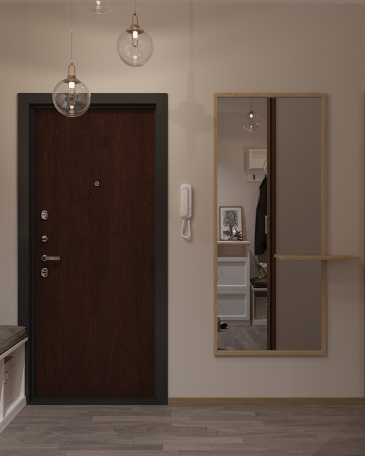 Scandinavian style corridor, hallway& stairs by 'INTSTYLE' Scandinavian Tiles
