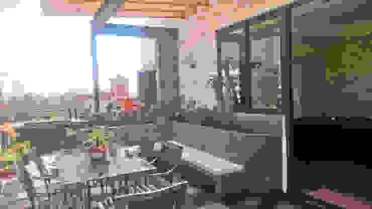 Terraza roof garden Balcones y terrazas modernos de Creativo 84 Moderno