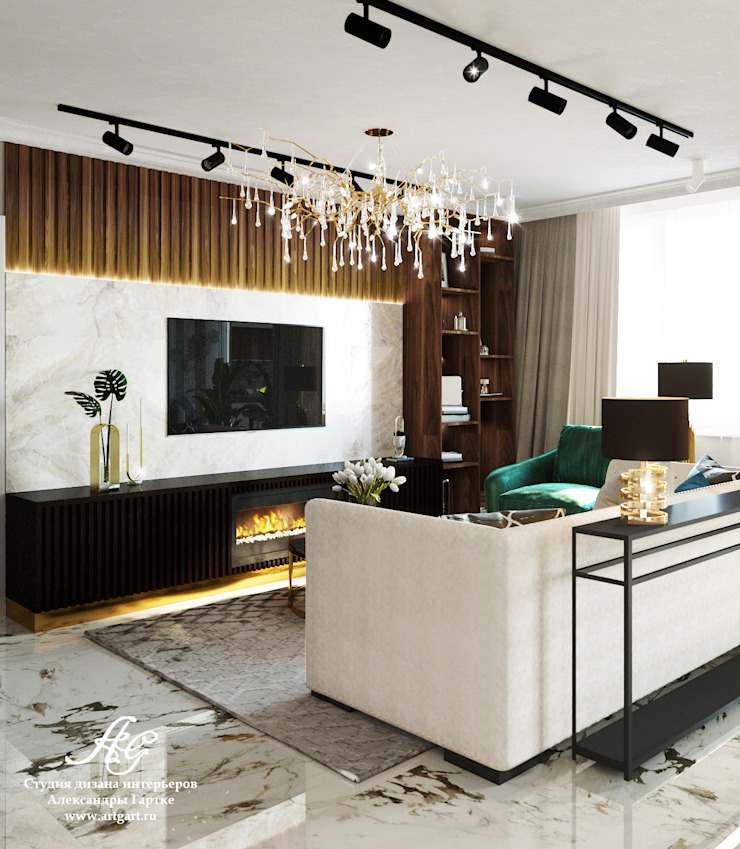 Eclectic style living room by ARTGART Eclectic