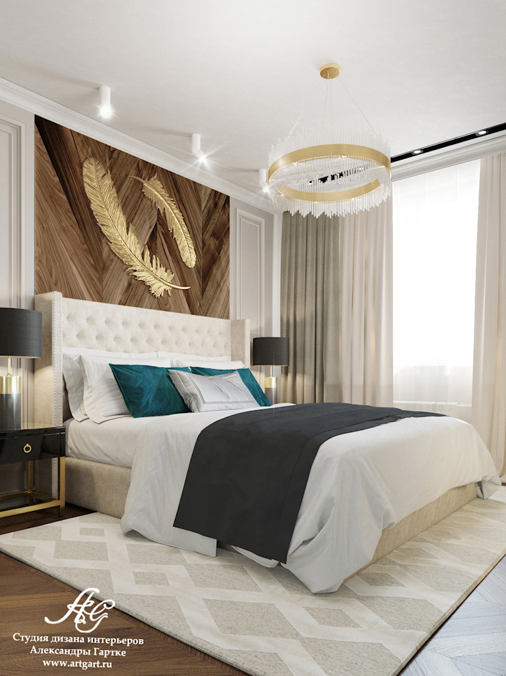 Eclectic style bedroom by ARTGART Eclectic