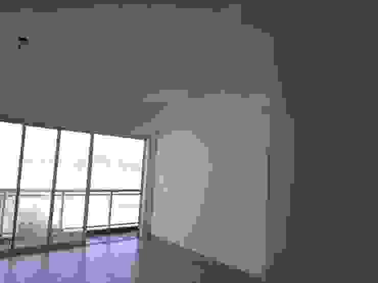 terraço e sala estar - antes por Ana Laura Wolcov - ARTE WOLCOV