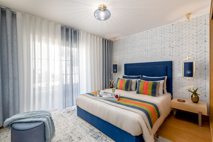 Eclectic style bedroom by Victor Guerra.Design Eclectic