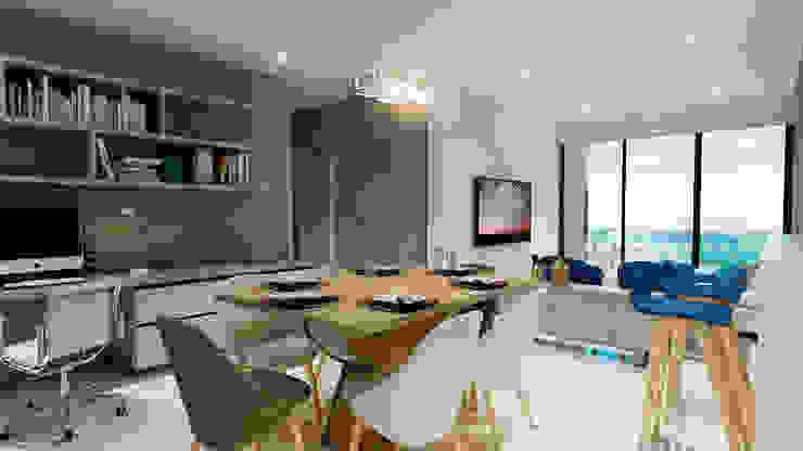 Modern Dining Room by Velasco Arquitectura Modern