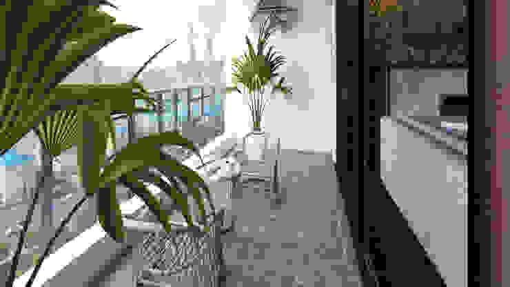 Home Staging Virtual de Arkiline Arquitectura Optativa Moderno Aglomerado