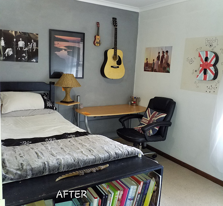 BTS bedroom makeover Shan Chi Feng Shui & Design Small bedroom Grey