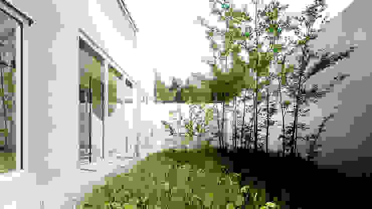 Jardín trasero privado de S-AART Moderno
