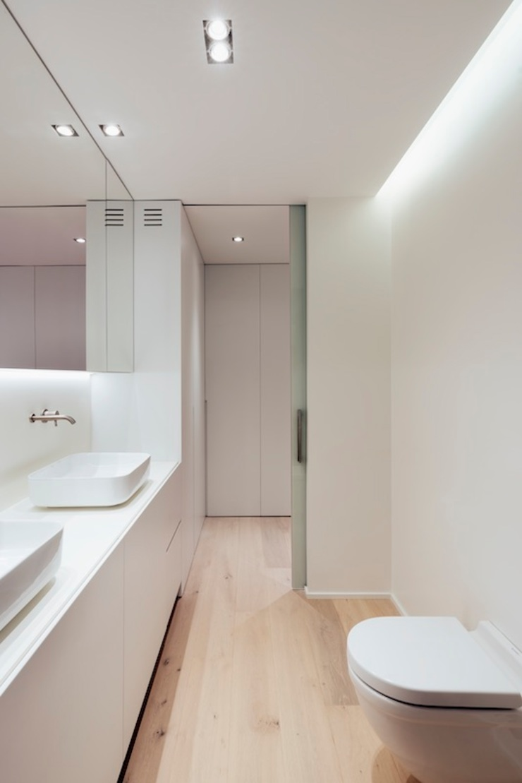 Studioapart Interior & Product design Barcelona Minimalist style bathrooms White