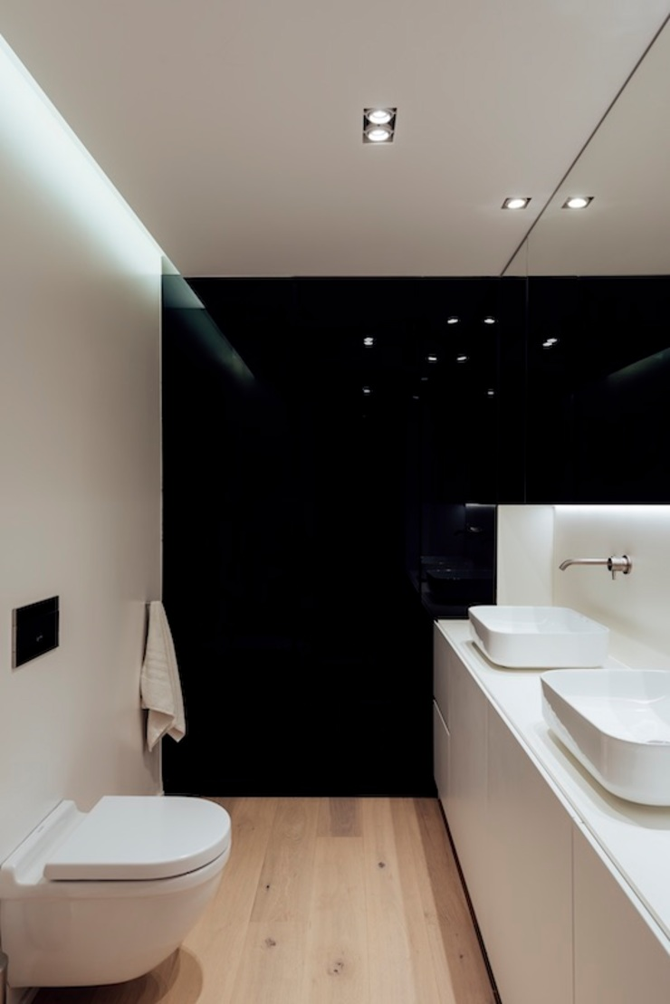 Studioapart Interior & Product design Barcelona Minimalist style bathroom Glass