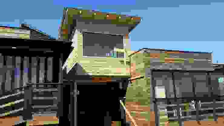 ampliacion 2do nivel de Q-bo proyectos de construccion Moderno Madera Acabado en madera
